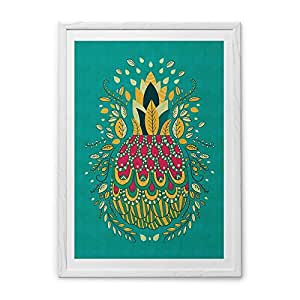 Chumbak Archival Paper Large Pineapple Art Print with Frame (8904218023245)
