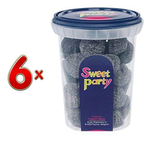 Sweet Party Cup Zachte Anijs Gom, 6 x 200g Runddose(Weiche Anis Fruchtgummis)