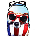Neevas Fashion Cute Animal Backpack Shoulder Bag Cartoon Style School Bag Rucksack Gift (COOL DOG)