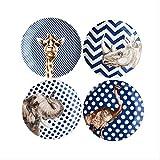 DUKEMG Creativo Cervo Animale Piatto in Ceramica Piatto di Piatto di Porcellana Piastra Piatto Torta di Porcellana prateria Animale Africano