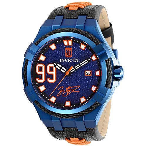 Invicta Jason Taylor Herren-Armbanduhr Armband Leder Schwarz Automatik 28524
