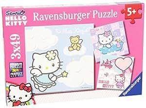 Ravensburger - 09271 - Puzzle Enfant - Ravissante Hello Kitty - 3 x 49 Pièces