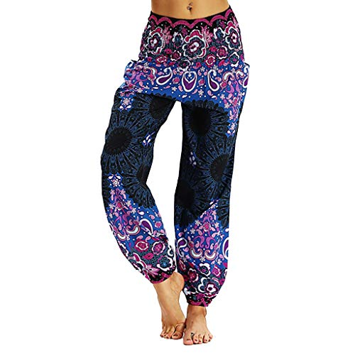 LANSKIRT_Pantalones Unisex Leggings Mujer Fitness Anchos Mujeres Hippi