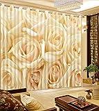 Waple 3D-Druck Vorhänge Lebensechte HD-Visuelle 3D-Genuss Vorhänge Schlafzimmer Wohnzimmer Sonnenschutz Fenster Vorhang 240X400CM