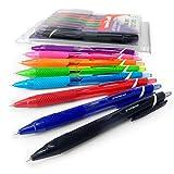 Uni-Ball Jetstream Farben–sxn-150C–Einziehbares 0,7mm Rollerball–Brieftasche–8Stück verschiedene Farben