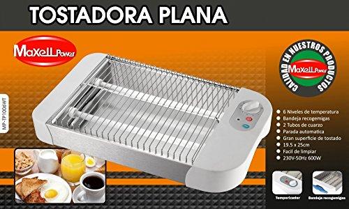 MAXELLPOWER TOSTADORA ELECTRICA Plana 2 Tubos 600W Horizontal 6 Niveles FACIL DE Limpiar