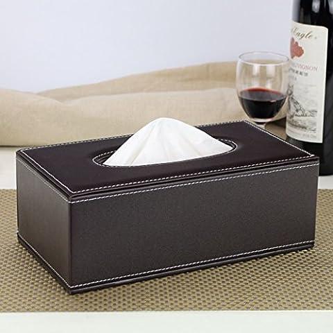 la scatola del tessuto moda personalizzata continentale auto carta vassoio di pompaggio casa in legno soggiorno scatola tovagliolo di tabella creativo ( colore : Marrone