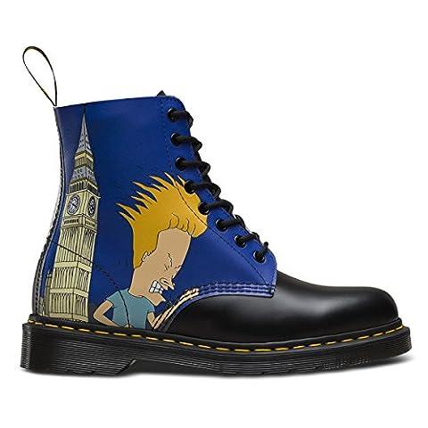 Dr Martens X Beavis & Butthead Pascal Bottes Chaussures En Cuir Imprimé Dessin Animé (Multicolore) - 39