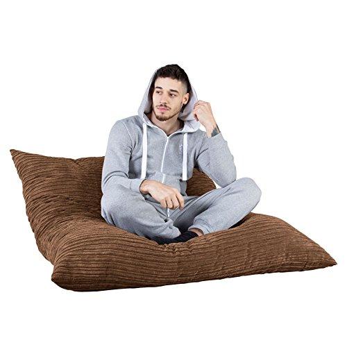 LOUNGE PUG®, Riesen Sitzsack XXL C450-L, CloudSac Latexflocken-Mischung, Sitzkissen, Cord Sand