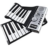 AGPtek® 61 Teclas Flexible Plegable Suave Portable Eléctrico Digital Roll Up Keyboard Piano
