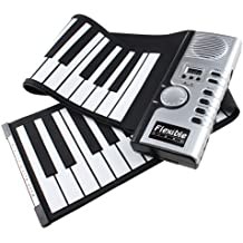 AGPtek® 61Teclas Flexible Plegable Suave Portable Eléctrico Digital Roll Up Keyboard Piano