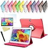 SVS 3in1 SET Tab S 10.5 360° Schutzhülle + Folie + Pen Samsung Galaxy Tab S SM-T800 / T801 / T805 Tasche Etui (Rot)
