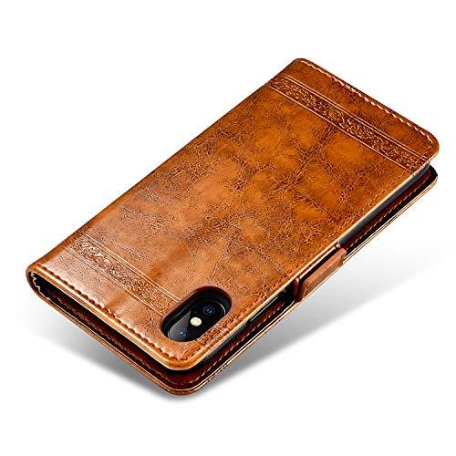 CiCiCat UMIDIGI One Max Hülle Handyhüllen, Flip Back Cover Case Schutz Hülle Tasche Schutzhülle Für UMIDIGI One Max Smartphone. (6.3'', Braun)