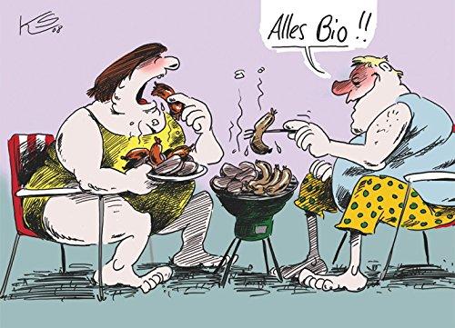 Postkarte A6 • 27601 \'\'Alles Bio\'\' von Inkognito • Künstler: Klaus Stuttmann • Satire • Cartoons