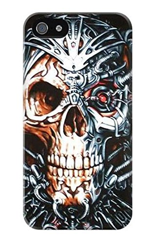 Skull Iron Terminator Hülle Schutzhülle Taschen für IPHONE 5 5S SE (5s Case-terminator Iphone)