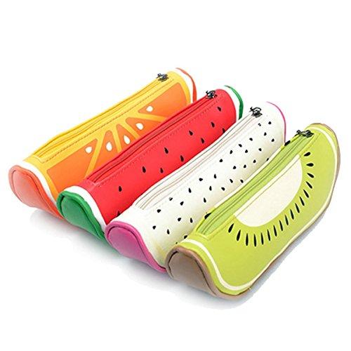hugestore creative frutta penna borsa matita borsa cancelleria Pouch Bag Borsa Cosmetici Custodia per ragazze - Frutta Cancelleria