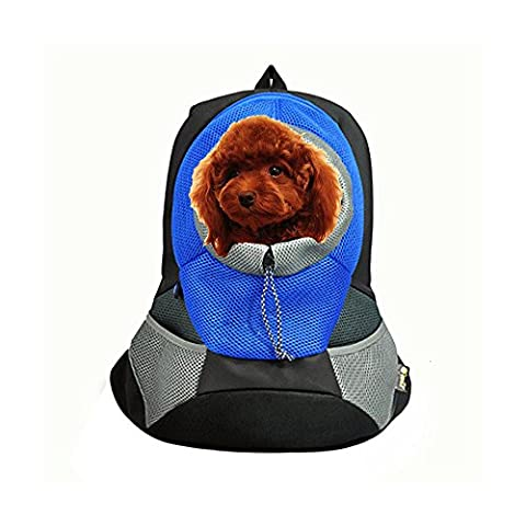 Easylifer Portable Pet Front Carrier Backpack Pack Outdoor Travel Bag Head Out Design for Cat Rabbit Dog up to 8 pounds, S, L (S,