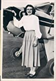 1950 Roxine Penlon San Mateo (High School CA privé Avion opérateur Press Photo...