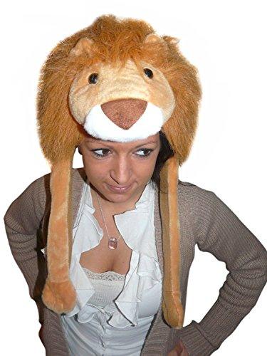 (Seruna Löwen-Mütze für Kostüm, F91/00, Löwen-Faschingskostüm, für Fasching Karneval Fasnacht, Karnevals-Kostüme Männer Frauen Faschings- Fasnachts- Tier-e Geburtstags- Weihnachts-Geschenk)