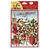 Heidel Nostalgie Adventskalender Weihnachtskalender 1 x 75 g Motive alt/blau