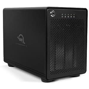 "OWC ThunderBay 4 RAID 5 Boîtier disque dur/SSD 2.5/3.5"" Noir - boites de stockage (2.5/3.5"", SATA, Série ATA II, Série ATA III, 5, JBOD, Boîtier disque dur/SSD, Noir, 9,2 cm)"
