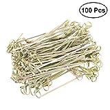 bestonzon Zahnstocher aus Bambus Dekoration für Cocktail Dessert Obst 100PCS