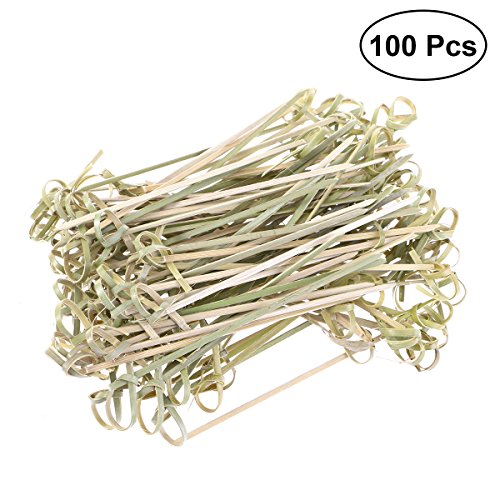 Party, Vorspeise (UPKOCH 100 stücke Holzknoten Cocktail Picks Bambus Obst Zahnstocher Einweg Sandwich Vorspeise Cocktail Sticks Party Supplies 12 cm)