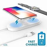 Schnelle WLAN Charging Pad, Belker qi-standard 2in 1Schnelle WLAN Charging Pad an die Macht Ihr neues iPhone und Apple Armbanduhr gleichzeitig, Design für iPhone X/8/8Plus und Apple Watch, Samsung Series