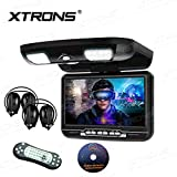 "Best Flip Down Dvd Players - XTRONS 9"" Overhead Car DVD Player Roof Flip Review"