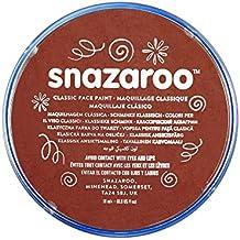 Snazaroo - Pintura facial y corporal, 18 ml, color marrón óxido