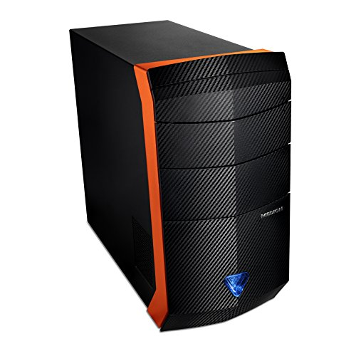 Medion P5369I Erazer Gaming PC (Intel Core i7-6700, NVIDIA GeForce GTX 1070 Founders Edition Grafikkarte, 8GB GDDR5 Speicher, 1TB HDD Festplatte, HDMI-Audio-/Video-Ausgang, Win 10 Home) schwarz