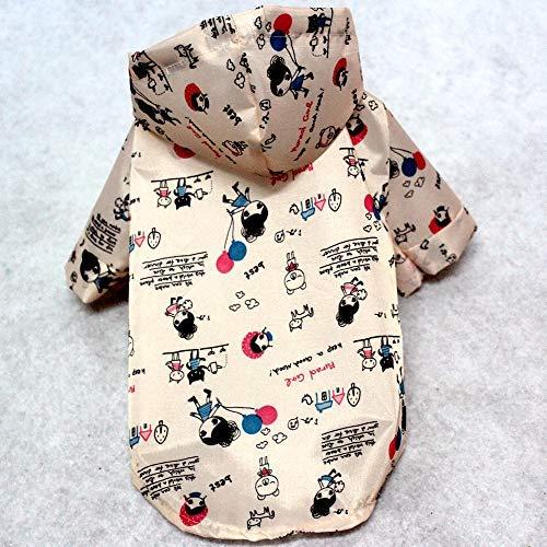 Hood Muster Kostüm Für - Regenjacken Vest Neue Puppy Hood Regenmantel Hund Ultra Light Premium wasserdichte Jacke Cartoon Pet Frühling Und Herbst Regenmantel Kostüm Muster Large