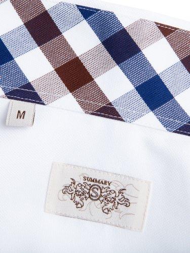 Sands Herren Hemd Adam mit Button-Down Kragen blau/braun