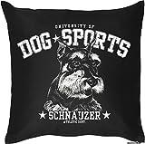 Schnauzer - Hunde Motiv Kissen mit Innenkissen Geschenk Hundefreunde 40x40cm Rassehund Dekokissen u Nutzkissen : )