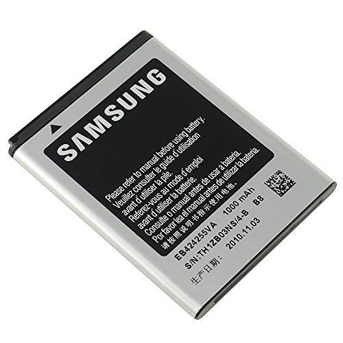Batteria per Samsung Chat S3350origine EB424255VA C5530Corby 2GT S3850Corby–nero
