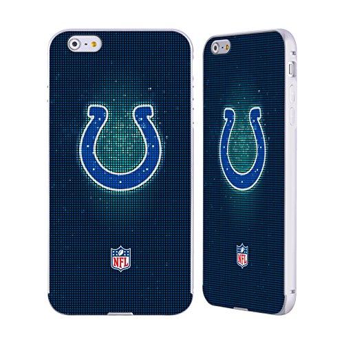 Ufficiale NFL Pattern 2017/18 Indianapolis Colts Argento Cover Contorno con Bumper in Alluminio per Apple iPhone 6 Plus / 6s Plus LED