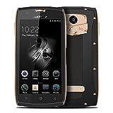 Blackview BV7000 Telephone Portable Debloqué - Smartphone 4G Ultra Mince 5 Pouces Gorilla Verre 2 Go de RAM + 16 Go ROM IP68 Imperméable / Antichoc / Anti-poussière Appareil Photo Numérique Quad Core 5MP + 8MP Empreinte digitale GPS -- Noir Or (Noir Or)...