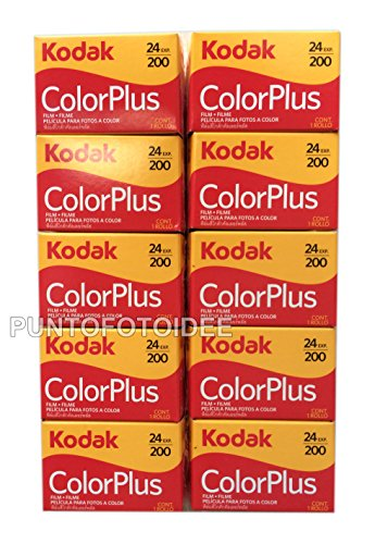 10 carretes Kodak Color Plus, 35 mm 200/24, lote de 10 unidades. Película, carrete, fotografía