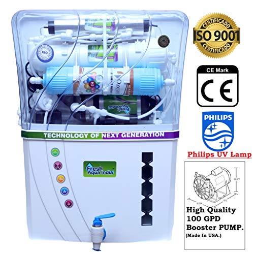 DE Fresh Aqua India 15L Ro+ Uv(Philips)+ Uf+ Alkaline Technology Water Purifier (Prime 009)