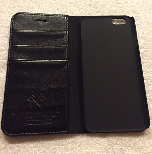 iphone 6/6s Custodia, Pu Custodia in Pelle a con Slot per Card Pelle Flip Portafoglio Caso Cover di Protezione Per iPhone 6/6s nero
