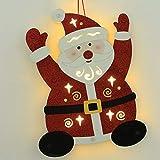 Weihnachtsbaumdekoration Weihnachtsmann, warmes weißes LED-Licht