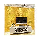 YJZ Luxus Europäischen Stil Metall Tapete Moderne Wasserdichte Alufolie Home Decor Damast Muster Tapete Roll,Gold
