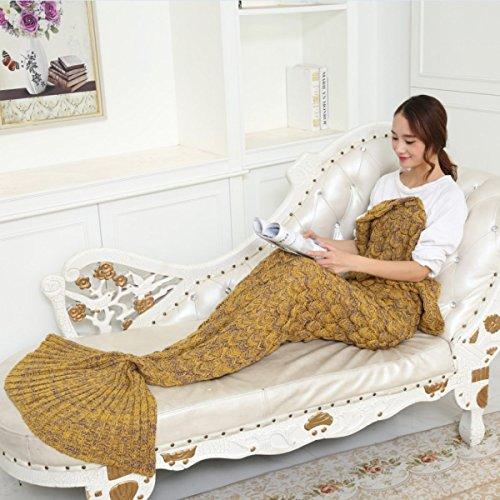 Meerjungfrauen Decken Klimaanlage Decken Skalen Decken Sofa Decken Meerjungfrau Schwanz Kleine Decken,A8 (A8 Meerjungfrau)