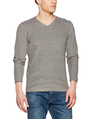 Nowadays Two Collered Pullover, Pull Homme Gris (India Ink 640)