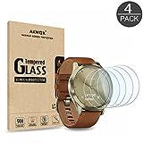 AKWOX [4 Stück] Garmin Vivomove HR Schutzfolie aus Panzerglas, 0.33mm 9H Härte Kratzfest Bildschirmschutzfolie für Garmin Vivomove HR Panzerglasfolie