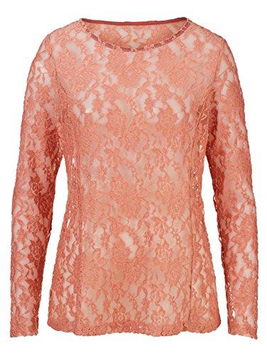 Damen Spitzenshirt in leicht ausgestellter Form by AMY VERMONT Blush