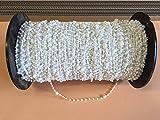 cg-sonnenschutz 50 Stück Clips mit Kette / Abstandskette / Verbindungskette für 127 mm Vertikaljalousie - Lamellen Vorhang Vorhang-Lamellen weiß aus Kunststoff