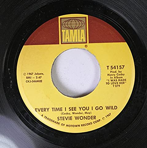 Stevie Wonder 45 RPM Every Time I See You I Go Wild / I'm Wondering