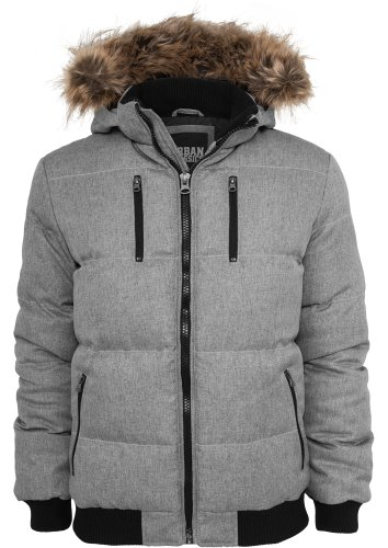 Urban Classics TB573 Melange Expedition Jacket Giacca uomo GREYMELANGE L