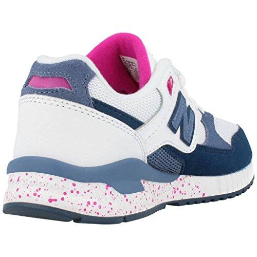 Calzature sportive per ragazza, colore Bianco , marca NEW BALANCE, modello Calzature Sportive Per Ragazza NEW BALANCE KL530 Bianco Blue